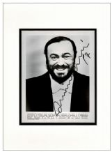 Luciano Pavarotti Autograph Signed Photo
